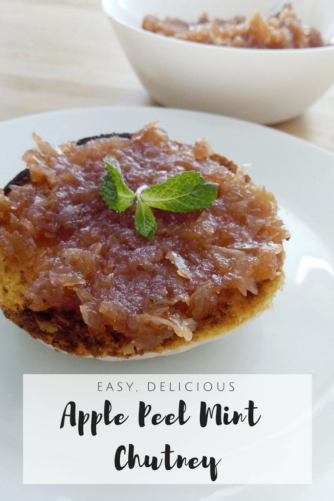 Apple Peel Chutney & Leftover Apple Crisp Cake  {Stop Food Waste!}