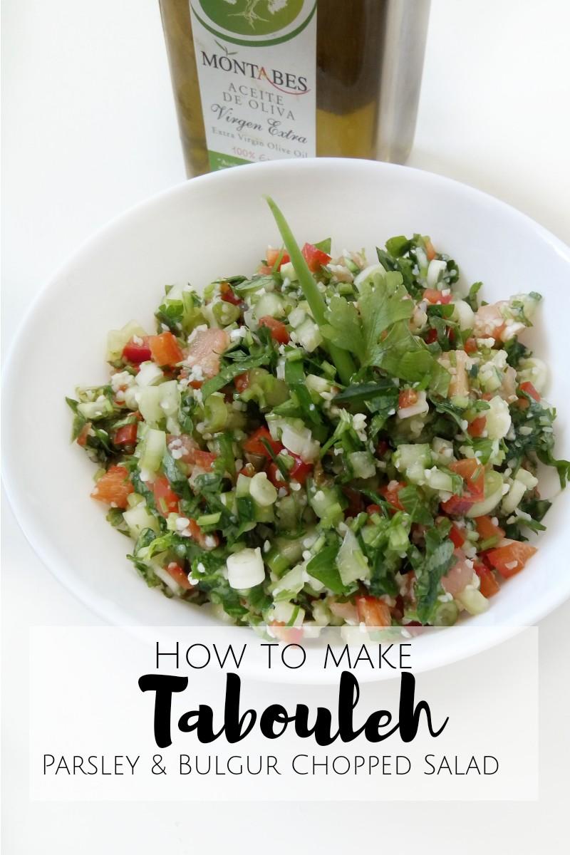 How to Make Tabouleh {Parsley & Bulgur Salad}