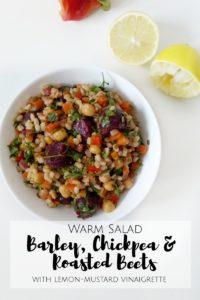 Warm Barley, Chickpeas & Roasted Beets Salad