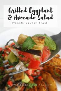 Grilled Eggplant & Avocado Salad {Vegan, GF}