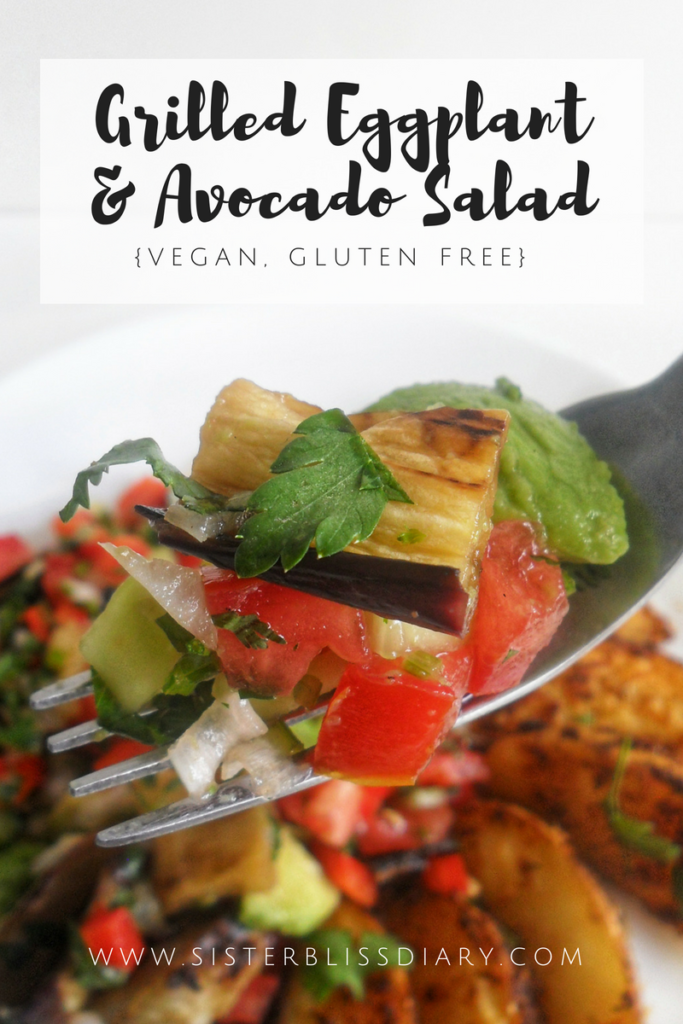 Grilled Eggplant & Avocado Salad