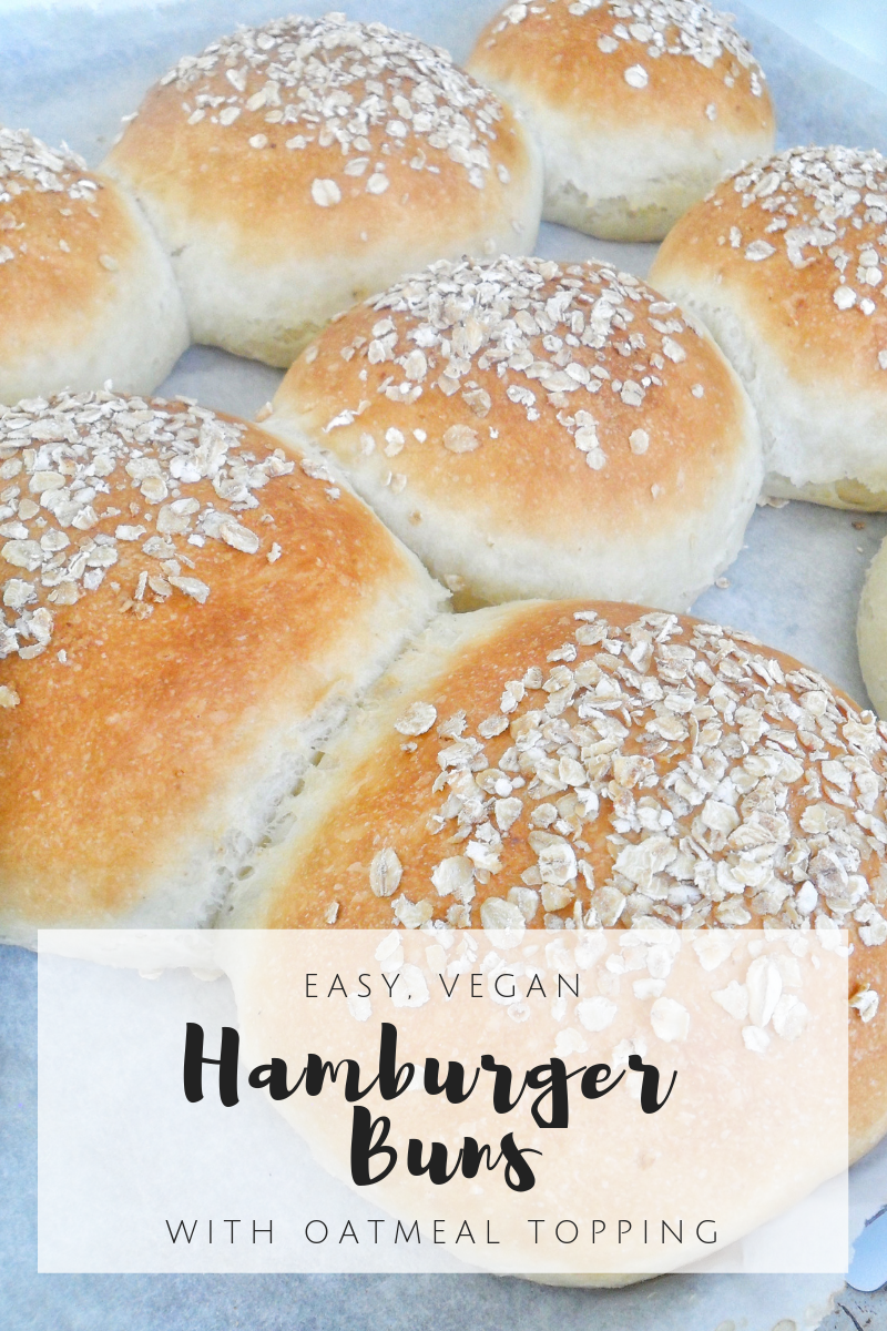 Easy Hamburger Buns {Vegan}
