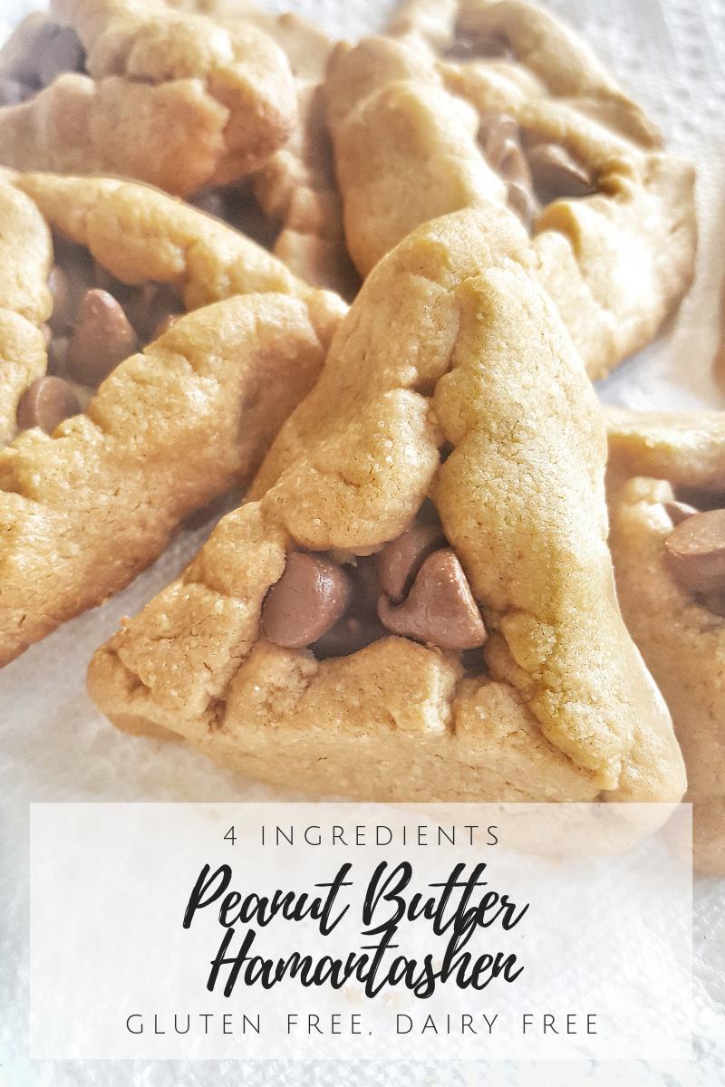 4-Ingredients Peanut Butter Hamantaschen {Gluten-Free, Dairy-Free}