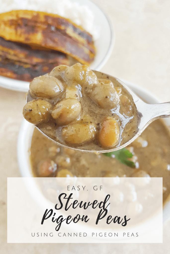 Simplified Caribbean Style Stewed Pigeon Peas {Vegan}
