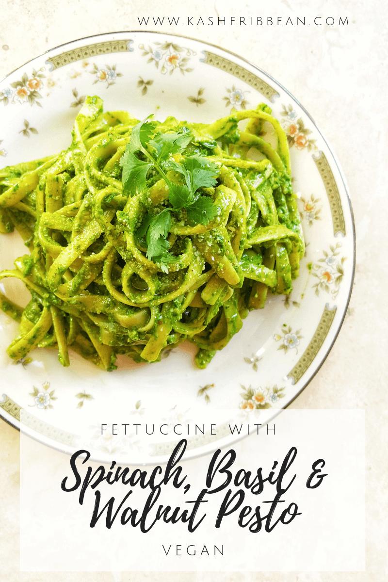 Spinach, Basil & Walnut Pesto {Vegan}